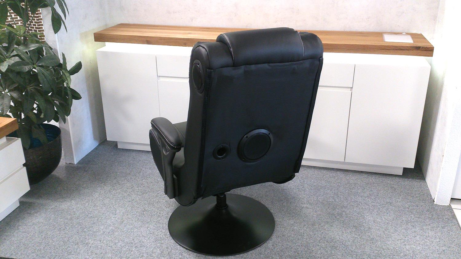 Drehsessel Stoff Drehsessel Gaming Chair Music Rocker Schwarz Bluetooth