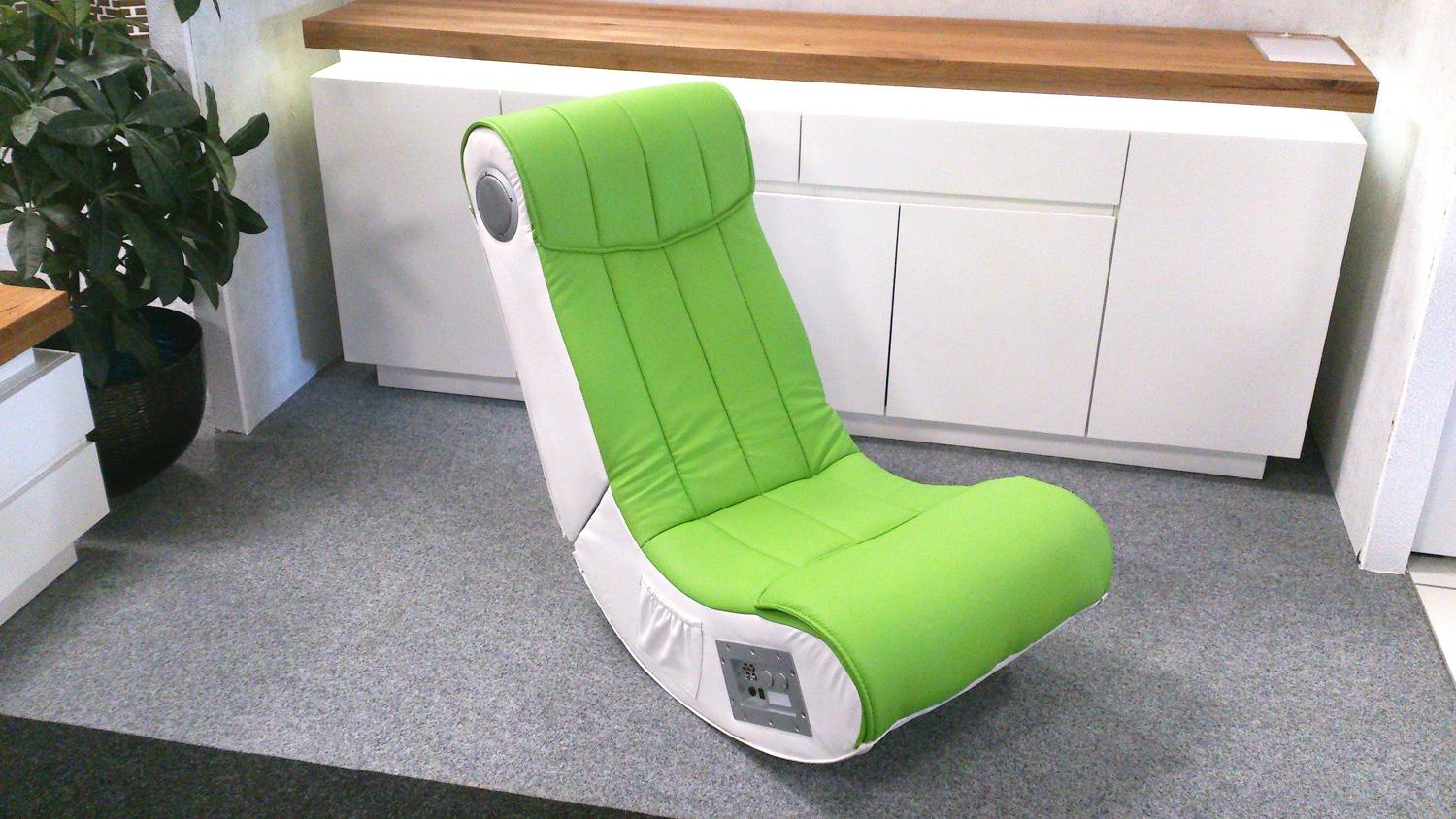 Gaming Sessel Netzteil Soundsessel Gaming Chair Soundz Lime Weiß Playstation Xbox Wii