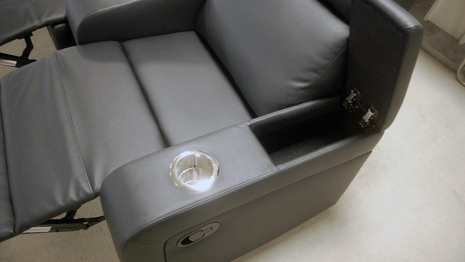 4er Cinema Sessel Cinema Sofa 4er Kinosessel In Schwarz Mit Relaxfunktion