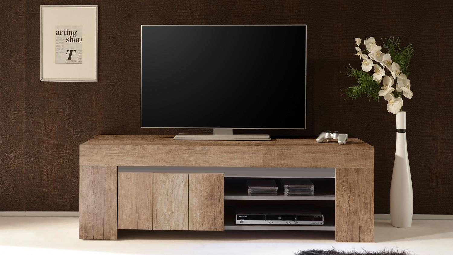 Tv Board Beige Tv Board Palmira Lowboard Canyon Oak Und Beige Matt Softclose 140 Cm