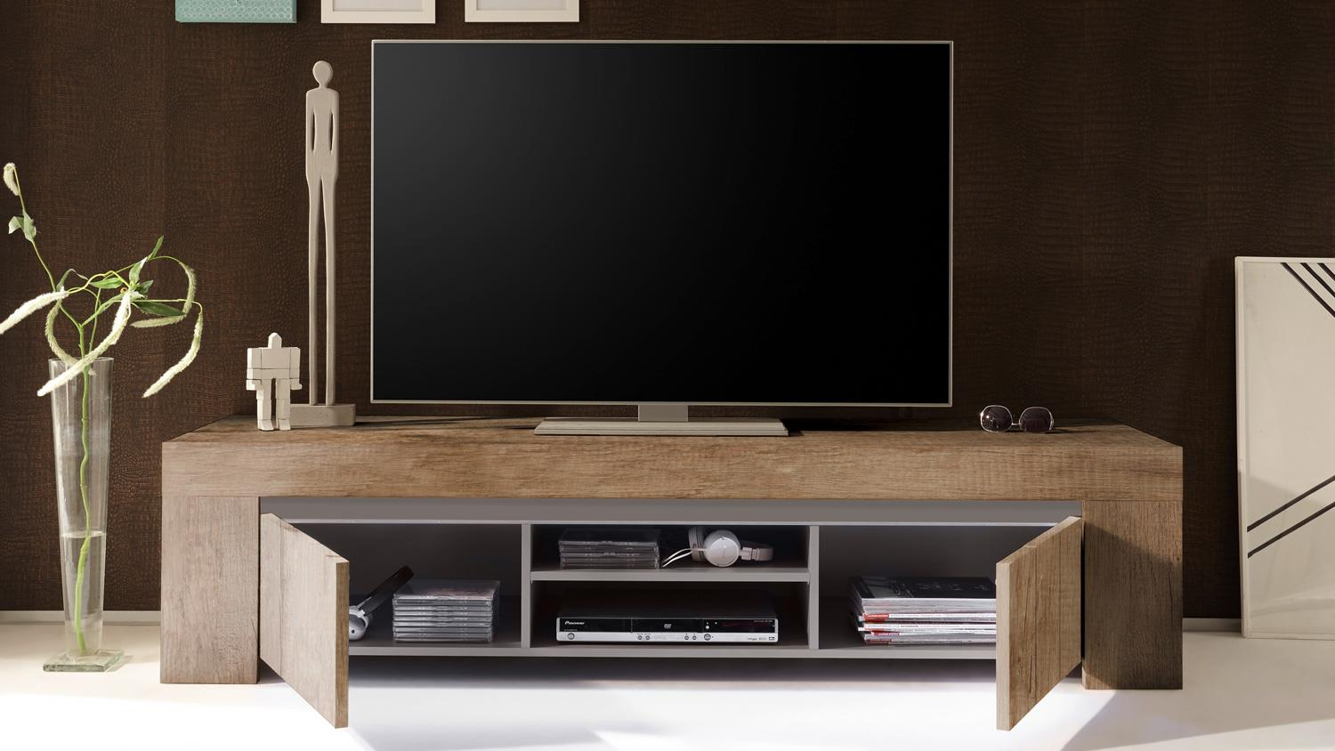Tv Board Beige Tv Board Palmira Lowboard Canyon Oak Und Beige Matt Softclose 191 Cm