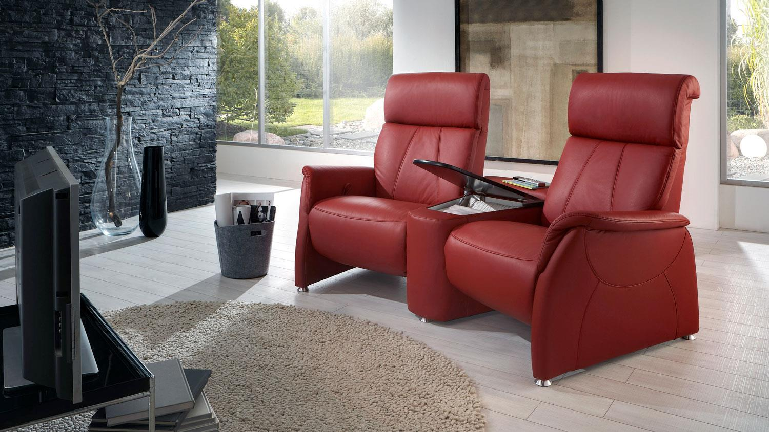Kino Sessel Adair Homecinema Leder Ziegel Rot Mit Funktion