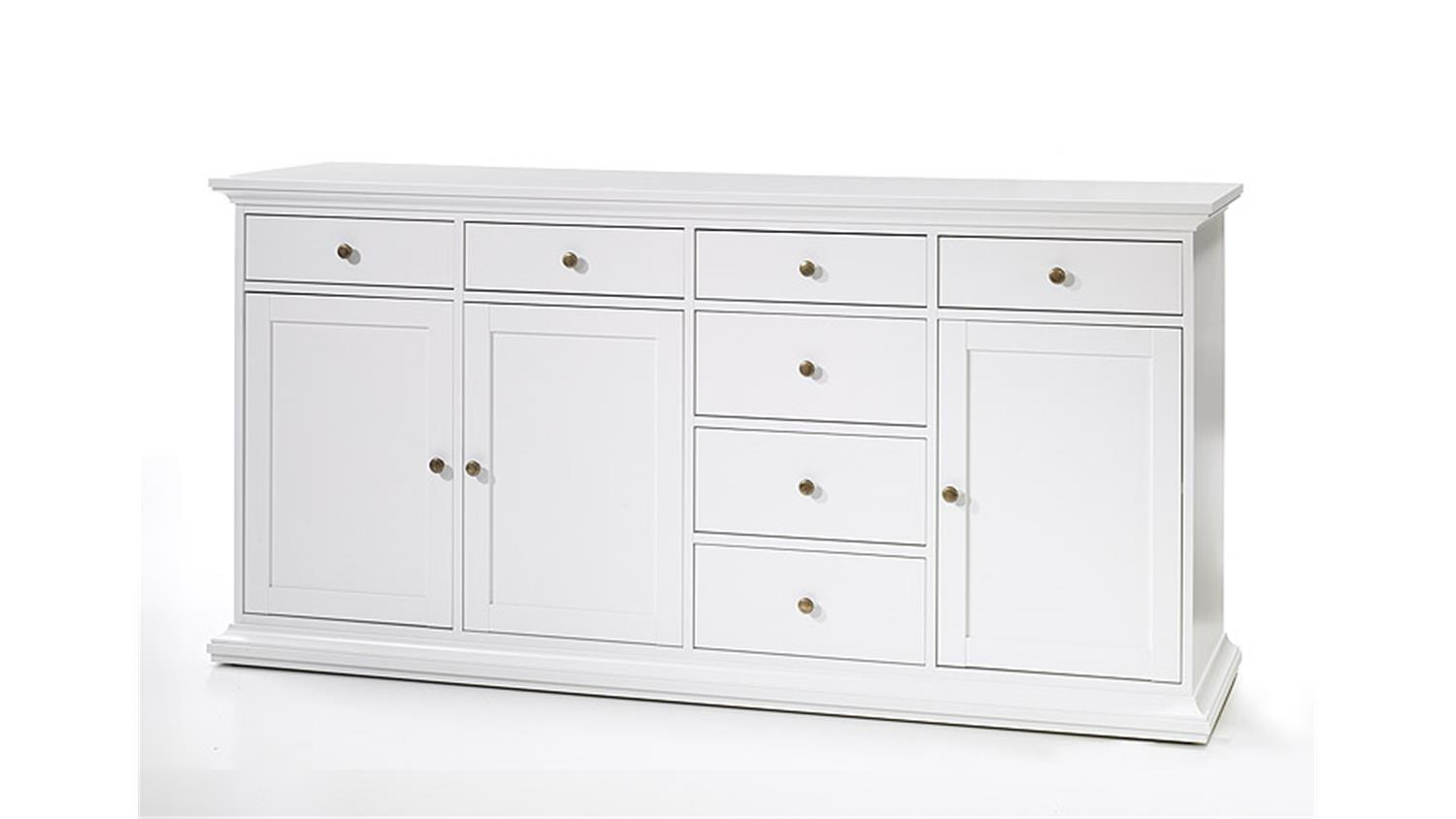 Kommode Landhausstil Sideboard 3 Paris Kommode In Weiß Dekor Landhausstil 3 Türig