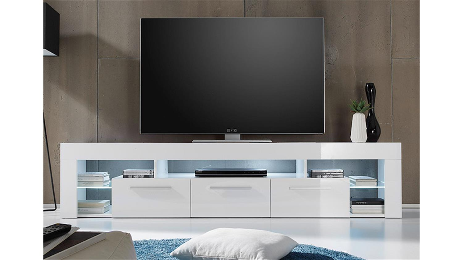 Tv Board Lowboard Lowboard Score Kommode Tv Board In Weiß Hochglanz 200 Cm