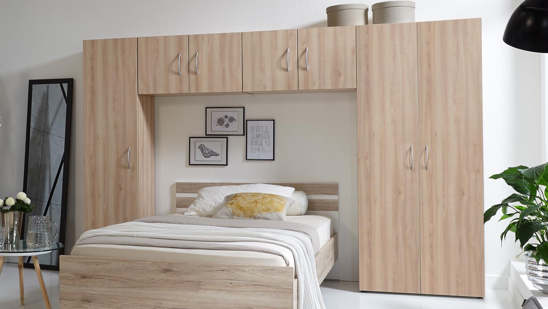 Bett252;berbau Mrk Schlafzimmer 220;berbauschrank In Eiche S228;gerau