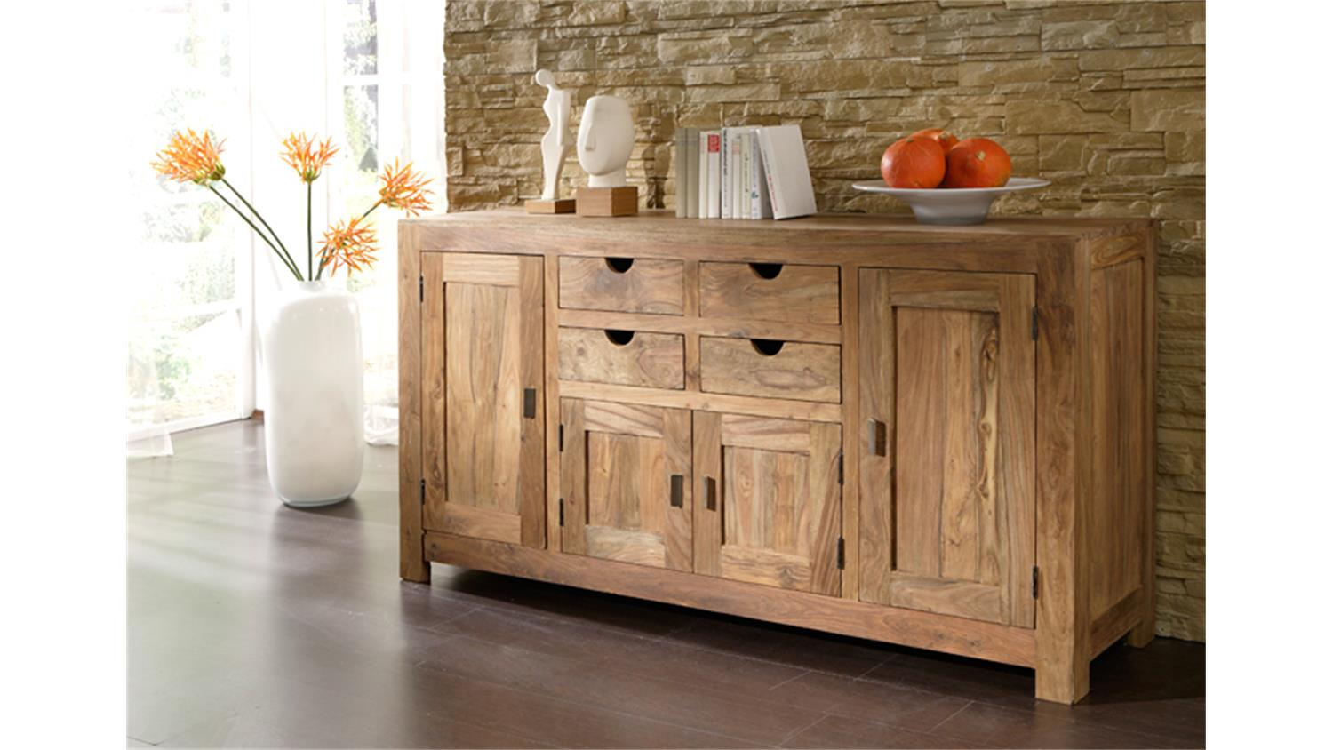 Möbel Landhausstil Natur Sideboard Yoga Sheesham Massiv Landhausstil Von Wolf Möbel