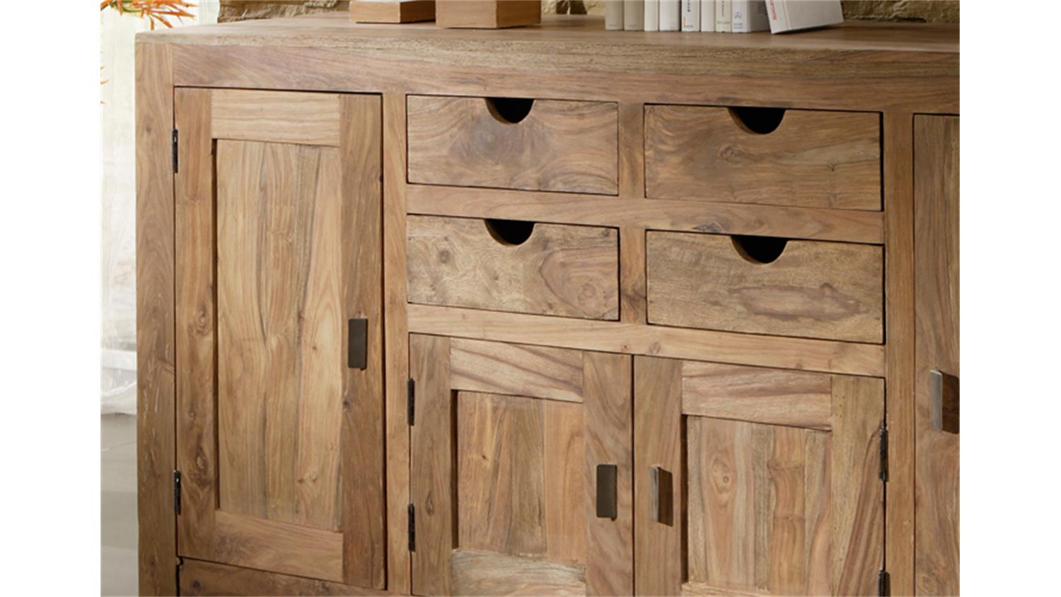 Holzmöbel Massiv Sideboard Yoga Sheesham Massiv Landhausstil Von Wolf Möbel