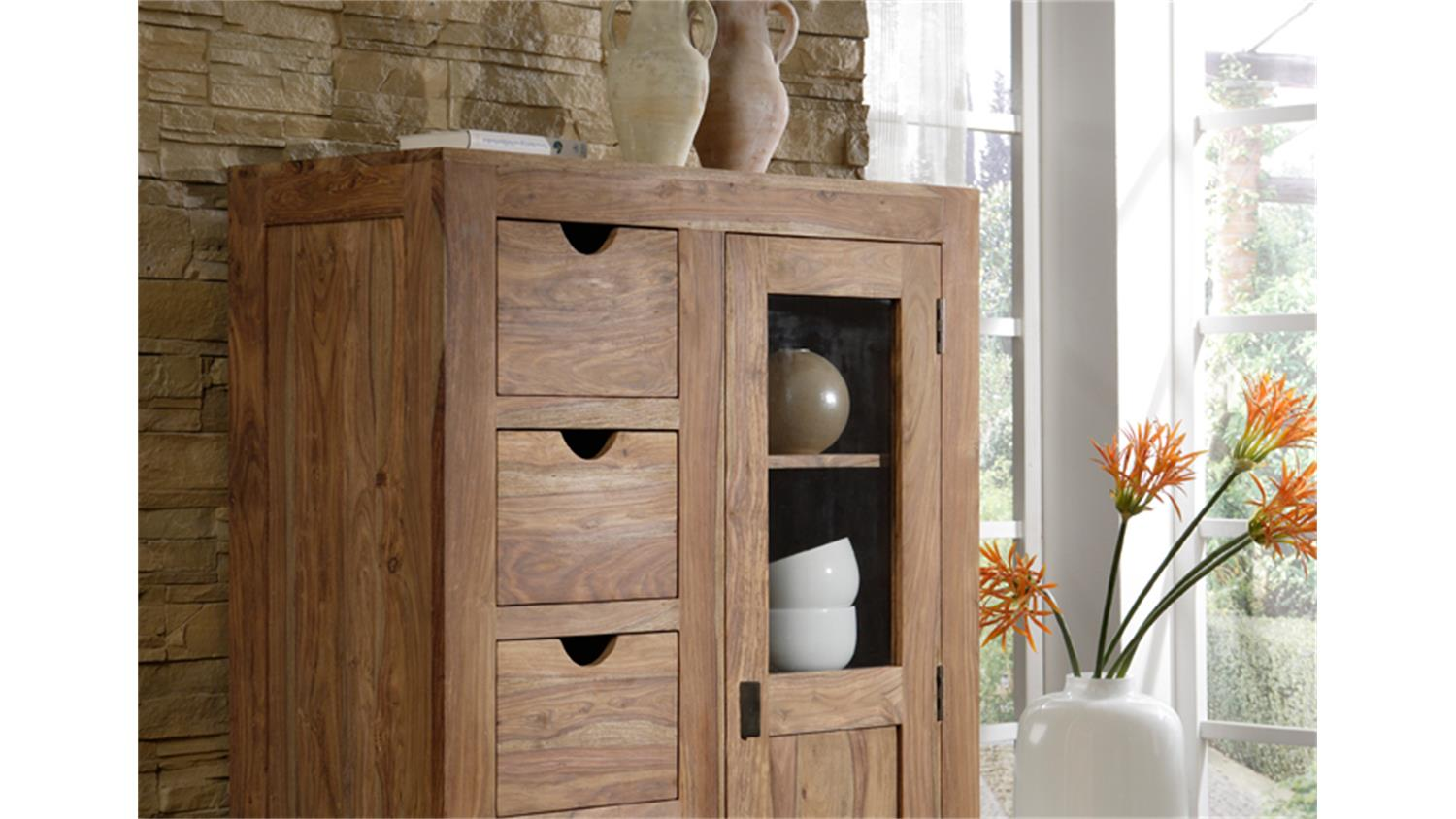 Möbel Landhausstil Onlineshop Brotschrank Yoga 6530 Sheesham Massiv Landhausstil Wolf Möbel
