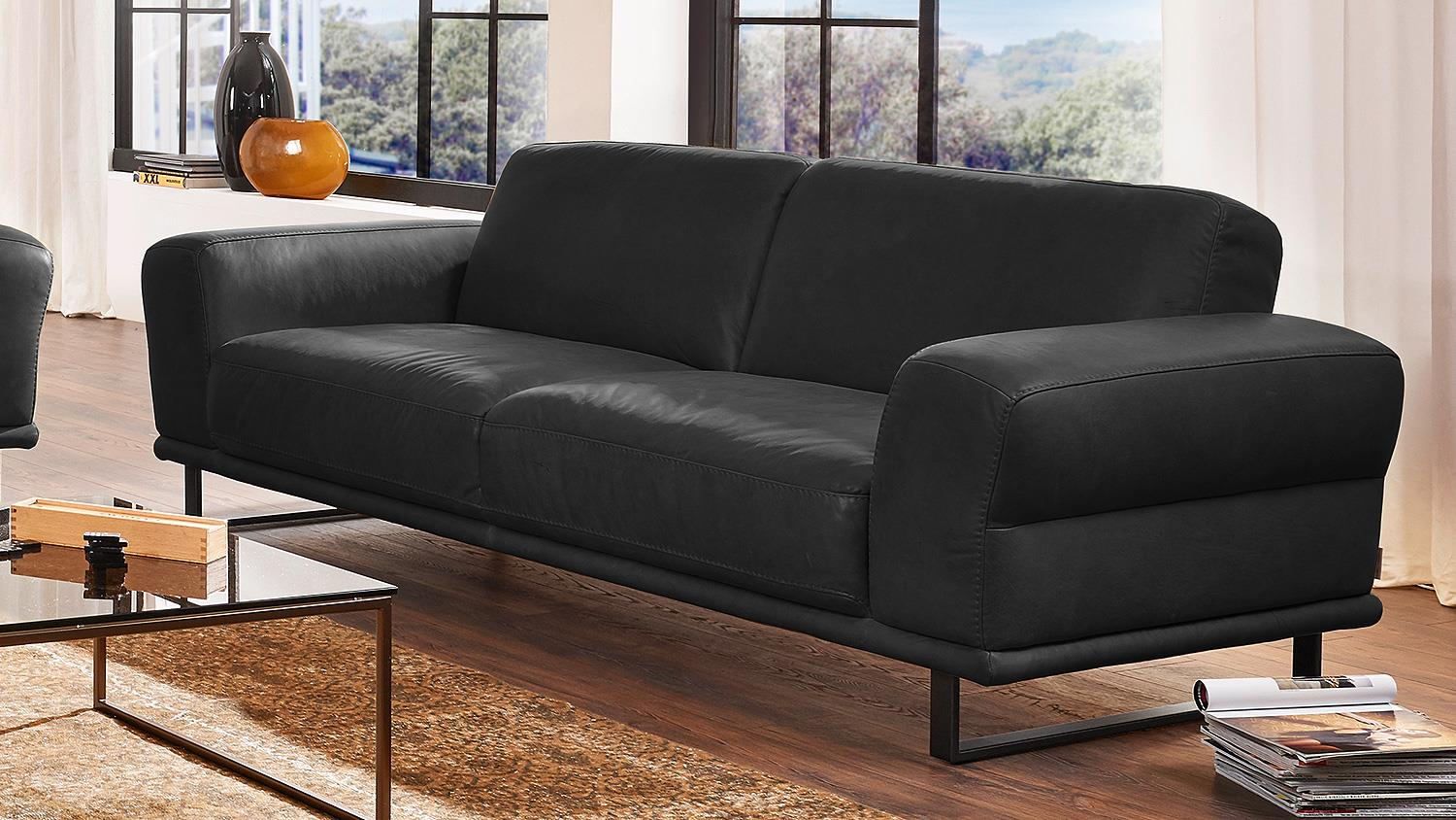 Willi Schillig Sessel Garnitur Montanaa 2er Sofa In Leder Schwarz Willi Schillig