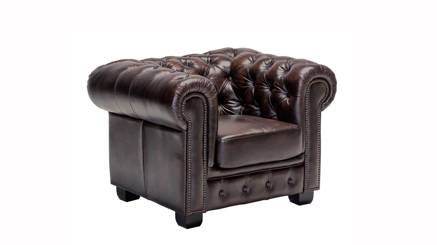 Antik Sessel Leder Chesterfield Sessel Leder Braun Antik Luxus Hochwertig
