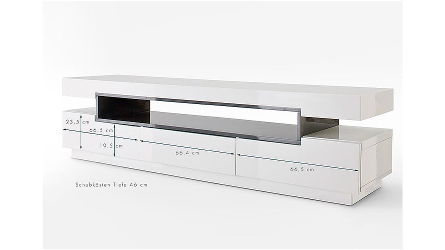 Tv Board Lowboard Tv Board Laura Lowboard In Weiß Hochglanz