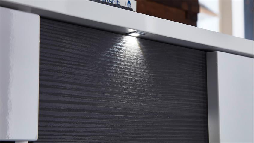 Hängeschrank Weiß Hochglanz Wohnzimmer