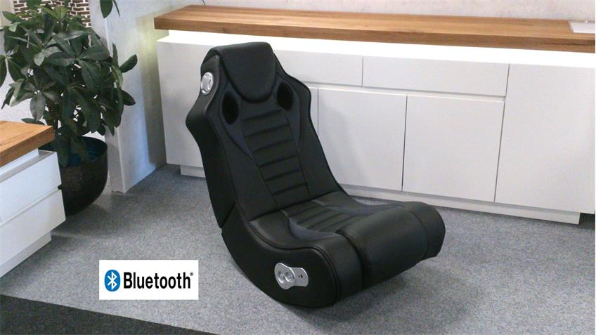 Multimediasessel Gaming Chair Speedy Schwarz Bluetooth Sound Sessel