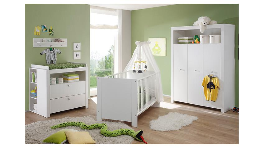 Real Sessel Babyzimmer Set Olivia Kinderzimmer In Weiß 3 Teilig