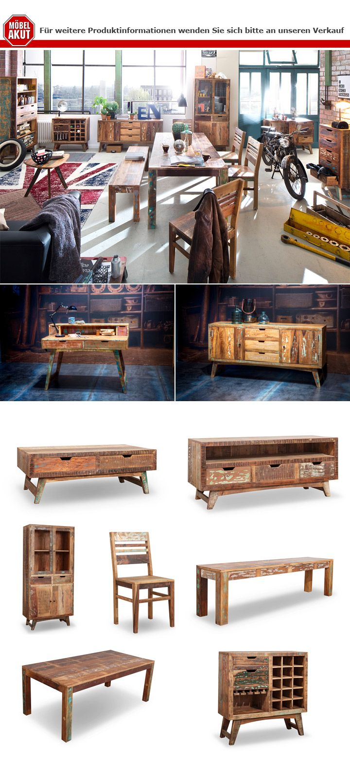 Couchtisch Malmö Couchtisch Malmö Tisch Aus Recycle Massivholz Used Color Look