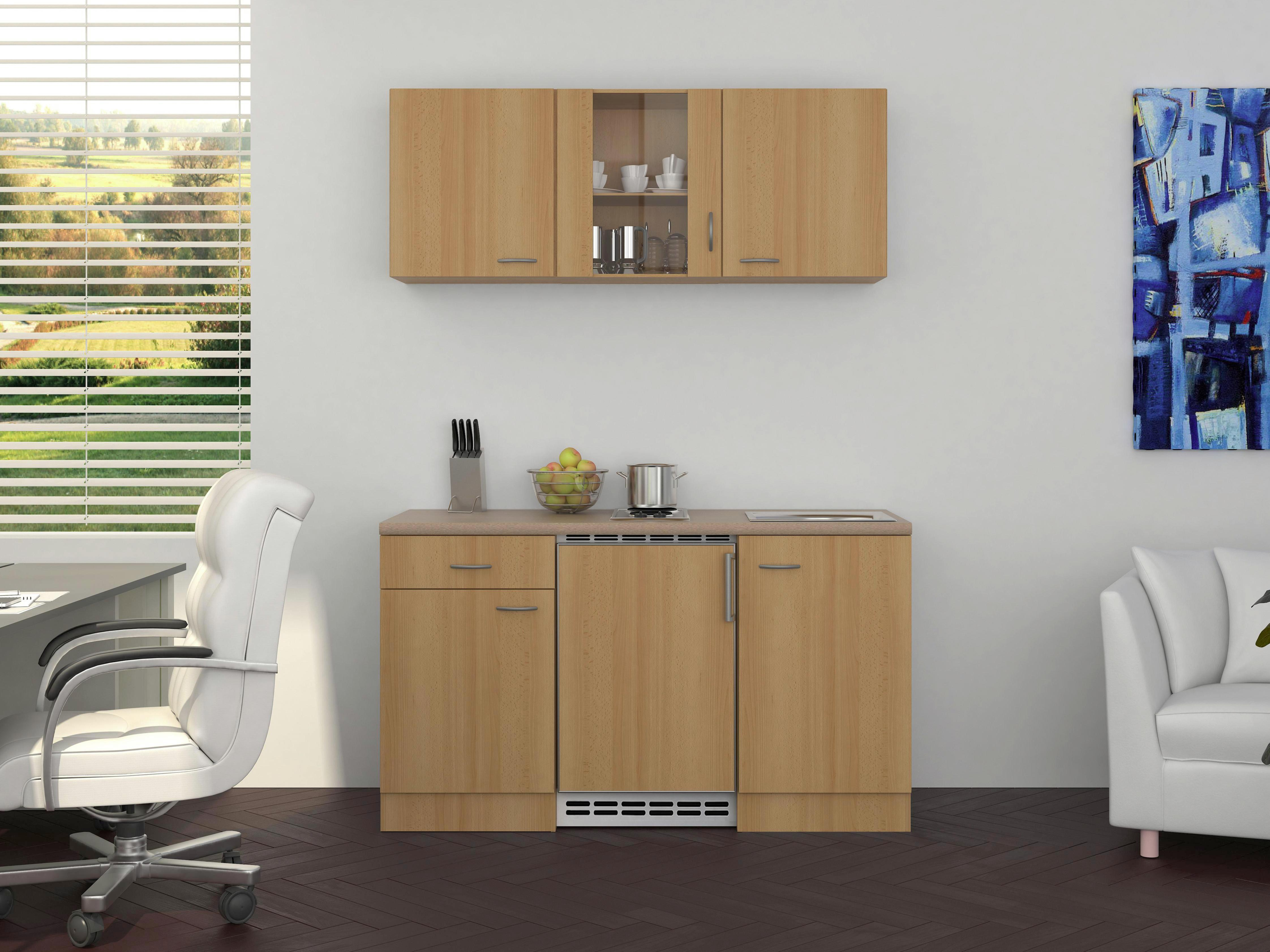 Mini Kühlschrank Möbelix : Kleine küche 150 cm miniküchen singleküchen günstig kaufen