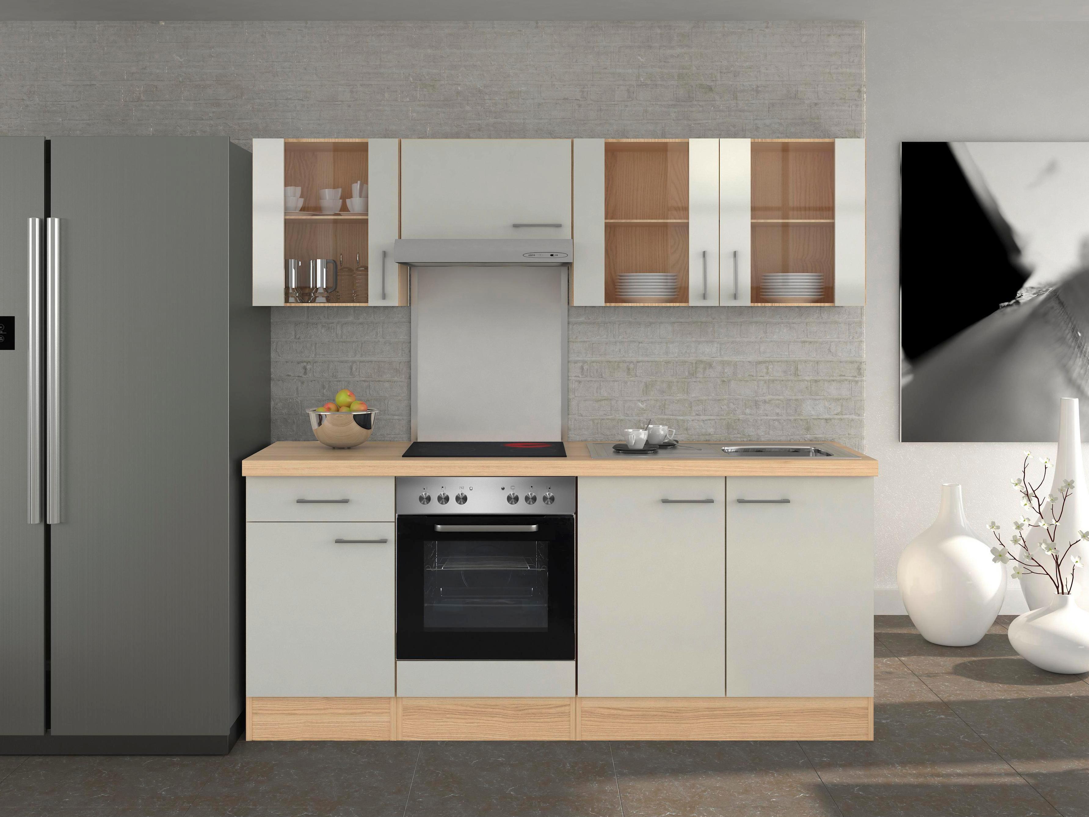 Küchenblock Abaco 210 Cm Perlmutt Online Kaufen Möbelix