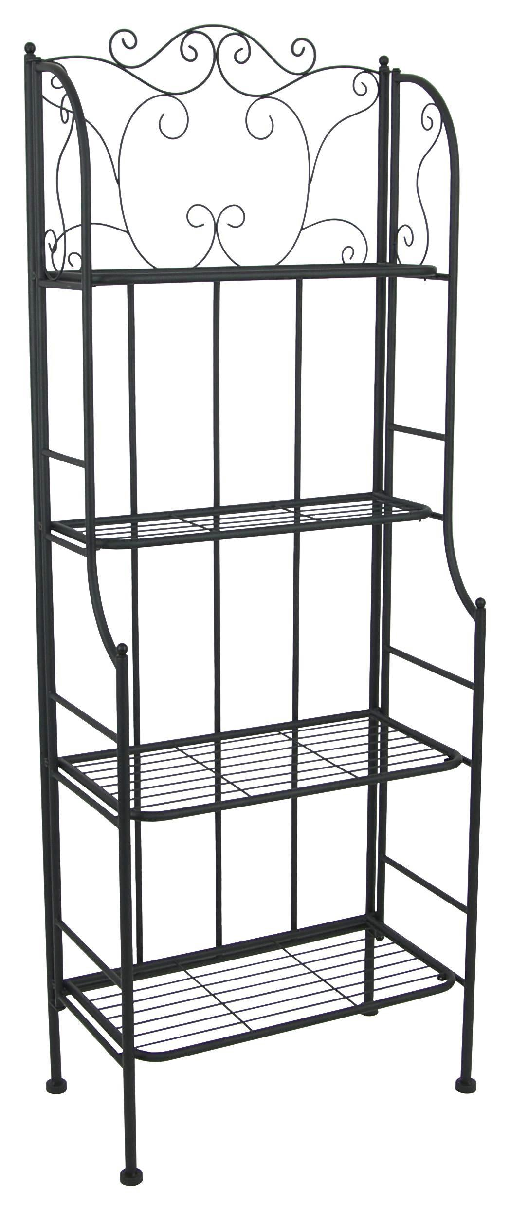 Regal Schwarz Metall Regal Shelf
