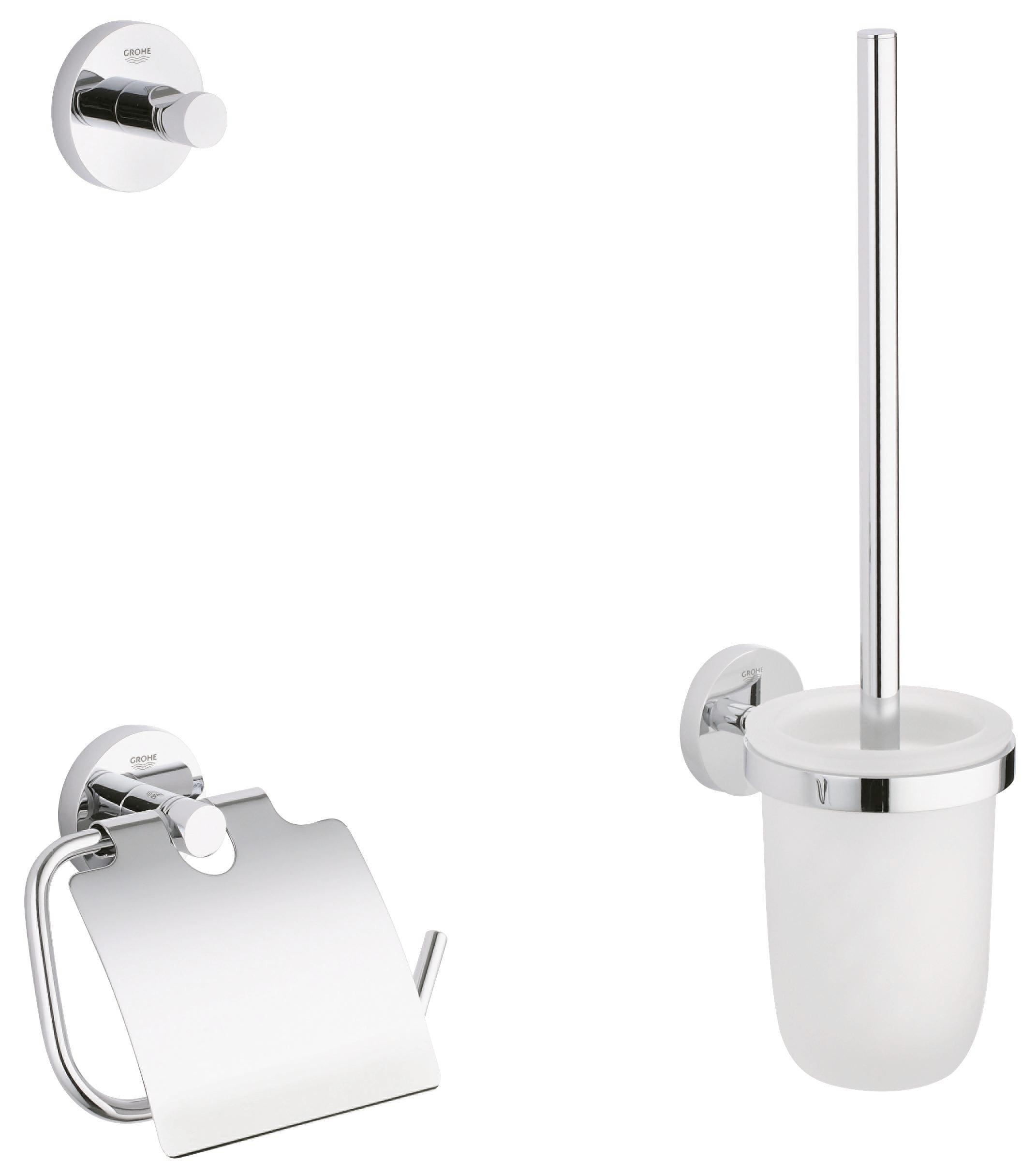 Badezimmer Set Klobürste Grohe Badezimmerset Essentials Wc Set 40407001