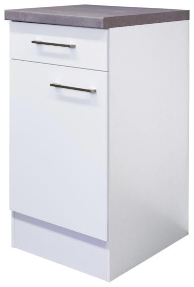Weißer Küchenunterschrank