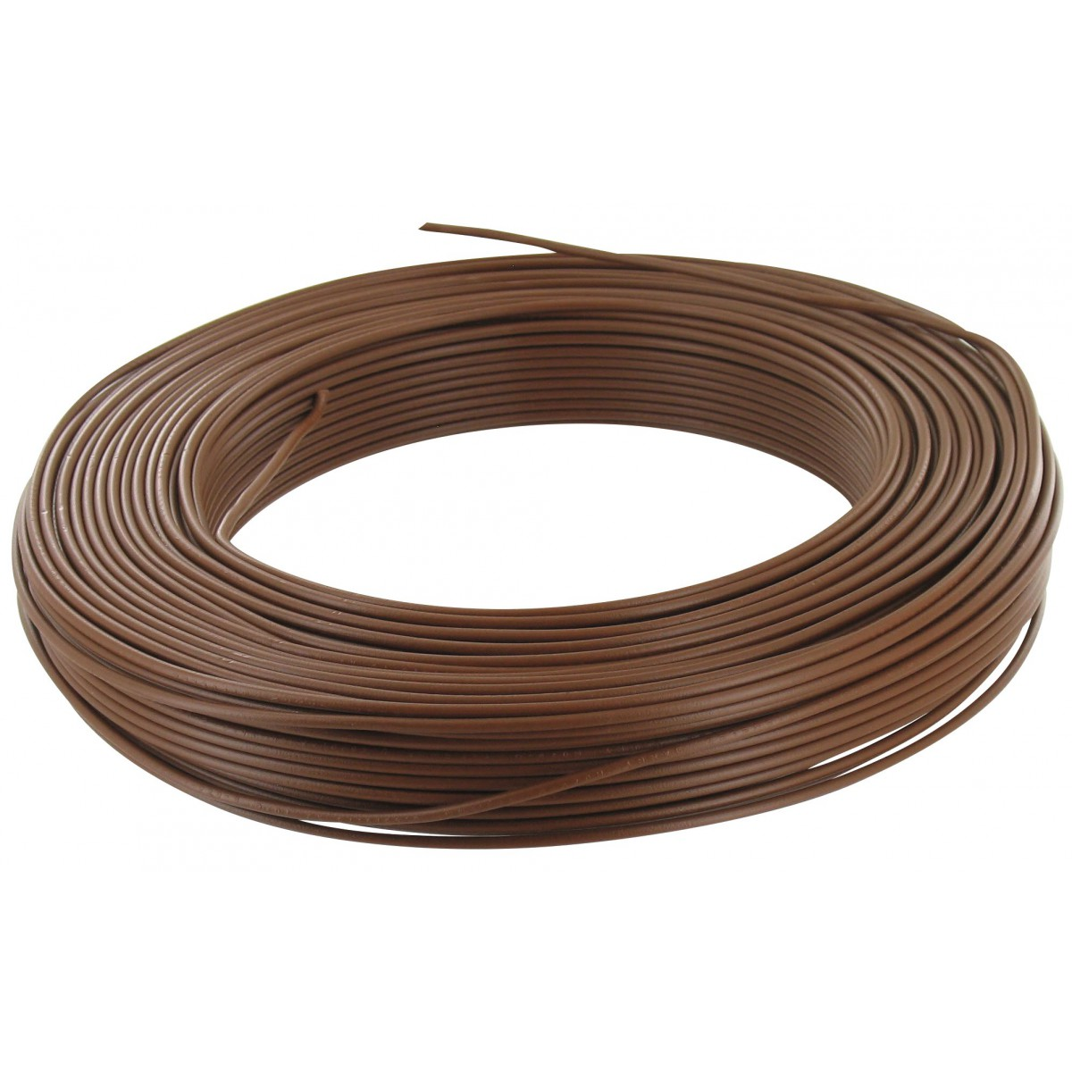 Electricité Fil Marron Fil H07 V U 2 5 Mm² Couronne 100 M Marron De Fil