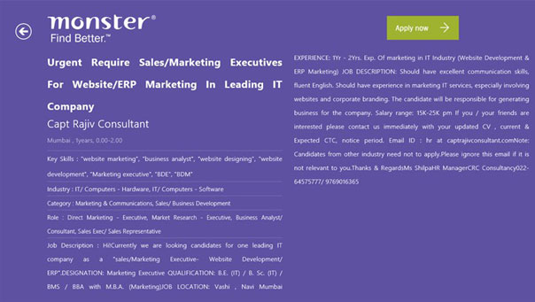 Job Search on Mobile, SMS Job Search, Mobile Job Search - Monster Gulf - leading job search sites