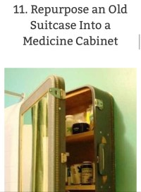 DIY Make Your own Medicine Cabinet Out Of A Suitcase! - Musely