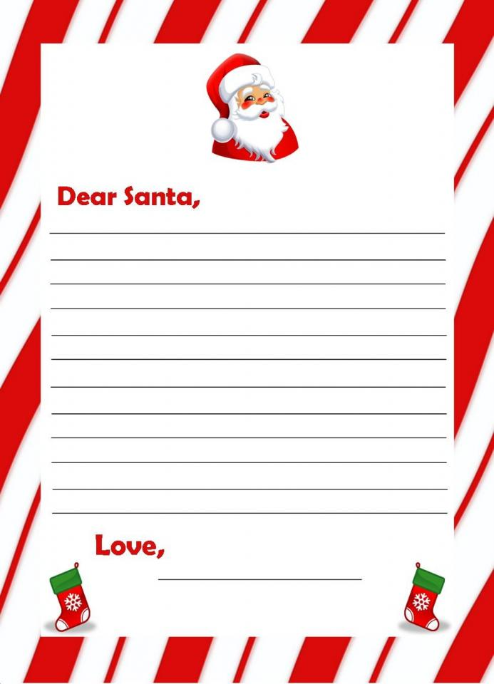 Free Christmas Printables For Kids - Letters To Santa, Thank You