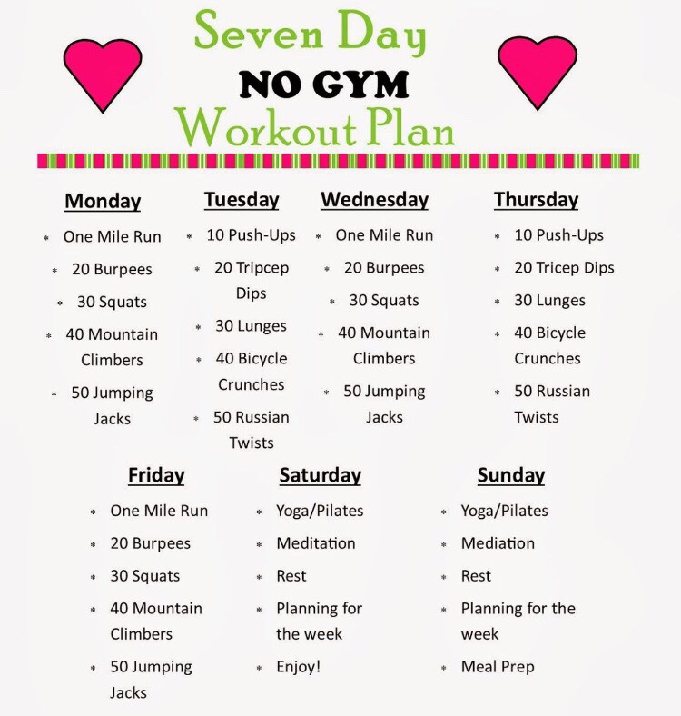 Weekly Exercise Plans Weekly Exercise Plans Ways To Get Ripped Pack - weekly exercise plans