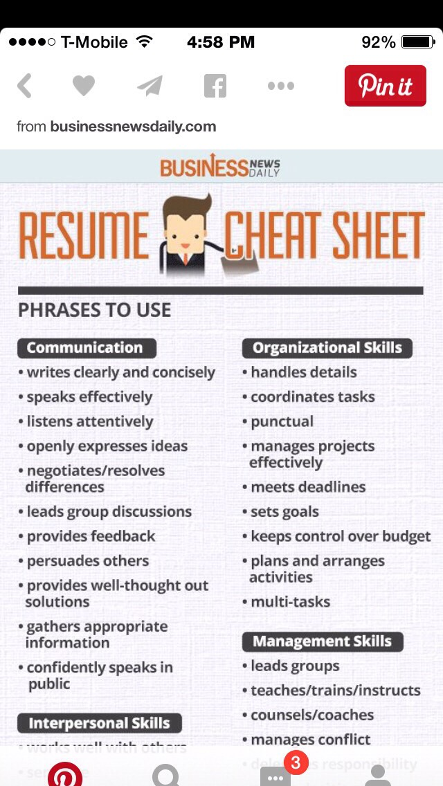 Musely - resume cheat sheet