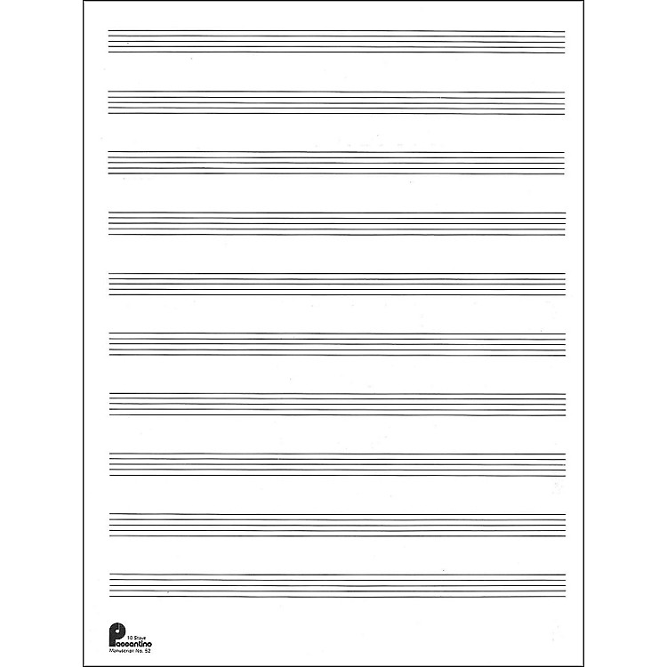 12 Stave Music paper
