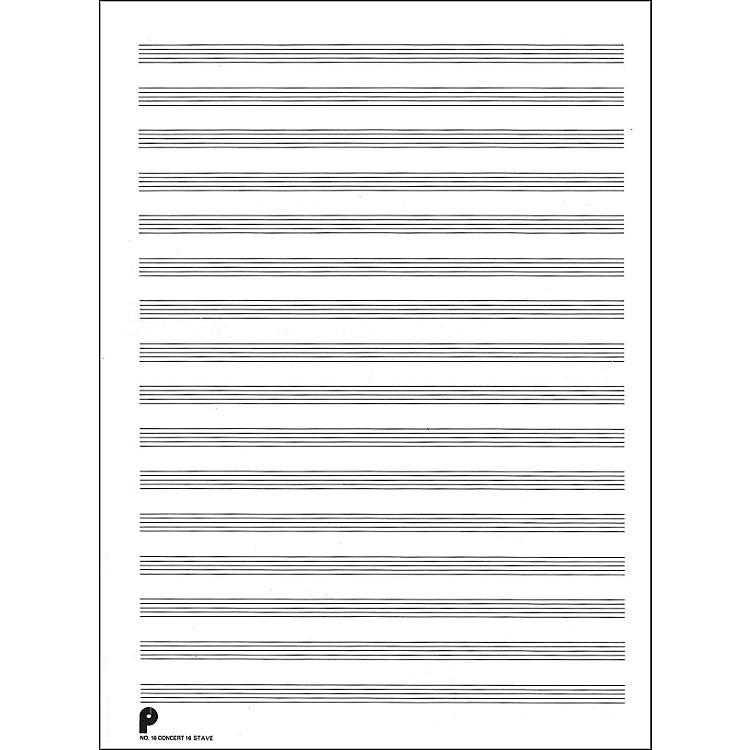 Music Sales Passantino Manuscript #16 16 Stave Concert, 96 Pages, 24