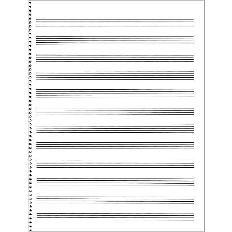 Blank manuscript paper writing