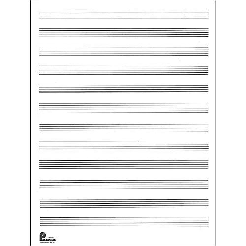 Music Sales Passantino Manuscript Paper Old #51, 12 Stave, 80 Pages