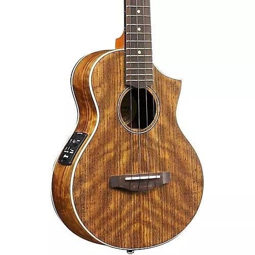 Ibanez Ukulele Ibanez Uewt14e Exotic Wood Tenor Acoustic-electric Ukulele Natural | Musician's Friend