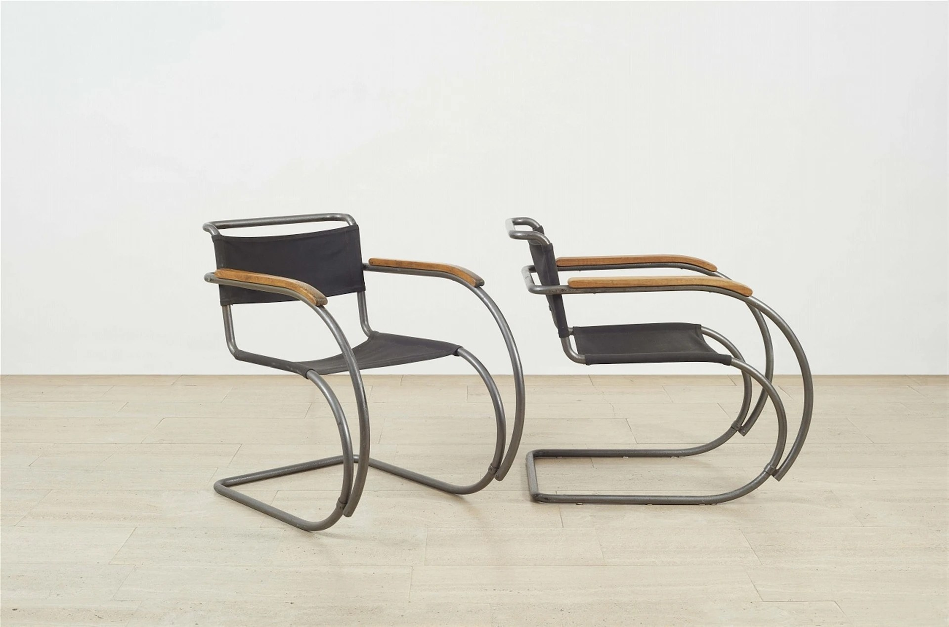 Ludwig Mies Van Der Rohe A Pair Of Cantilever Chairs Mr 20 1927 Mutualart