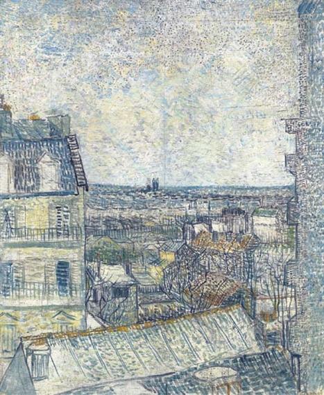 Van Gogh Vincent Vue de la chambre de l\u0027artiste, rue Lepic (1887 - Description De La Chambre De Van Gogh