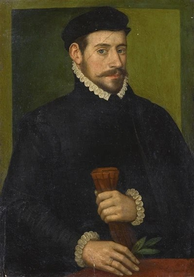 French School, 16thCentury PORTRAIT OF A MAN, HALF-LENGTH, HOLDING