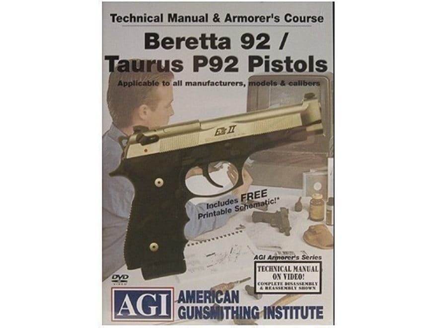 American Gunsmithing Institute (AGI) Technical Manual  Armorer\u0027s Course  Video \