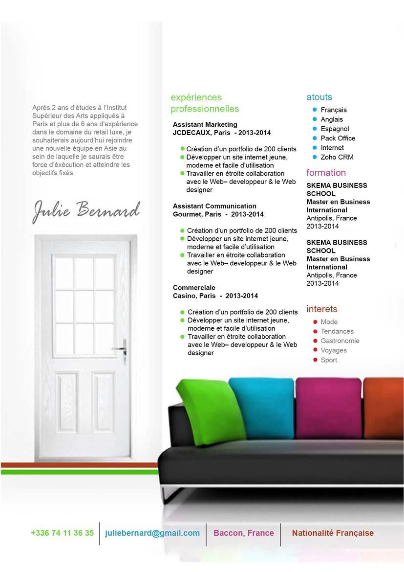 design cv agent immobilier