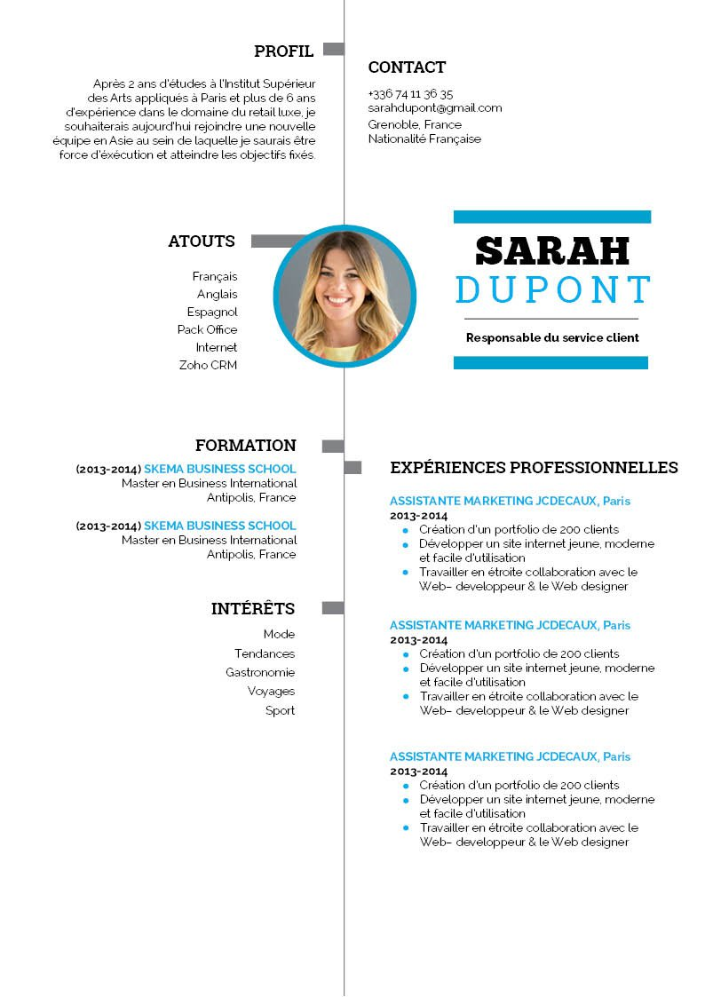 creer document cv
