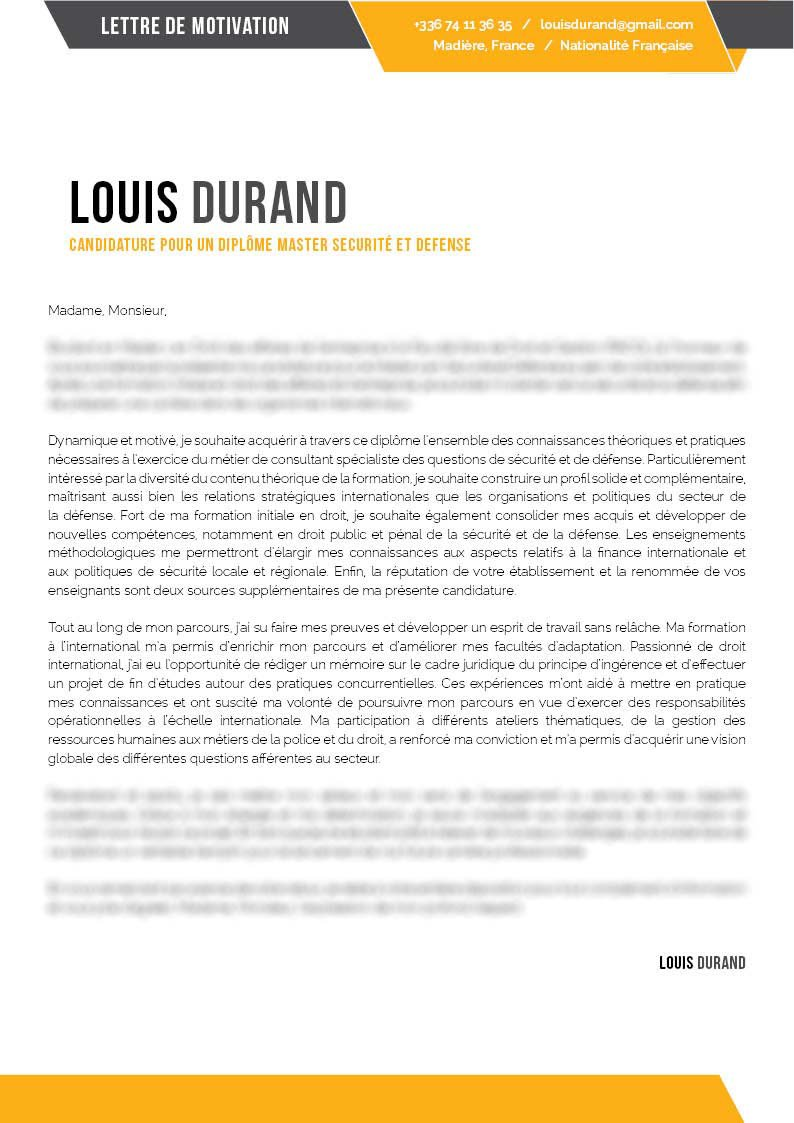 lettre de motivation cv factory