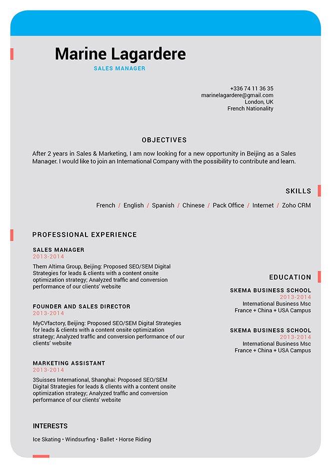 Easy resume template Modest Resume · myCVfactory - Modern Resume Styles