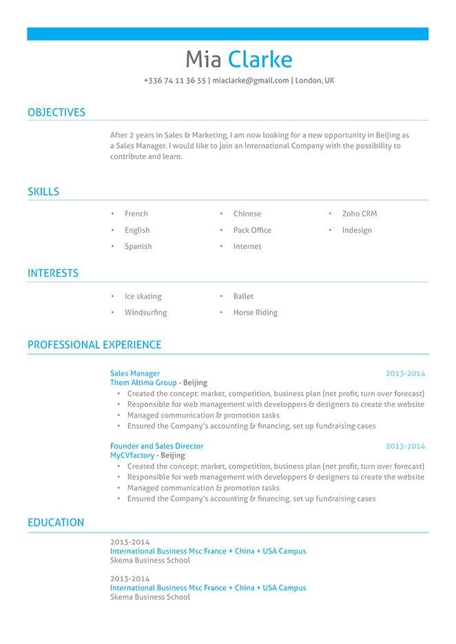 Professional resume templates Professional Resume · myCVfactory
