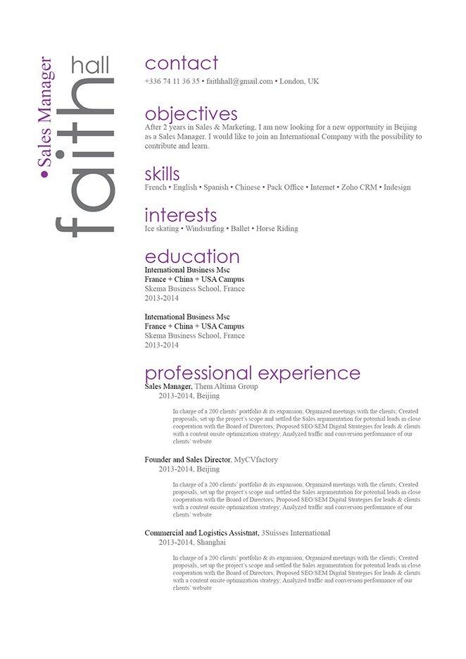 Great Resume Attractive Resume · myCVfactory
