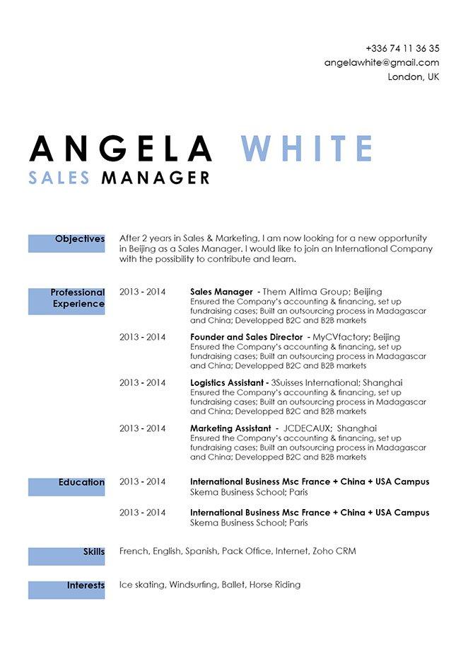 Simple resume templateAgile Resume · myCVfactory