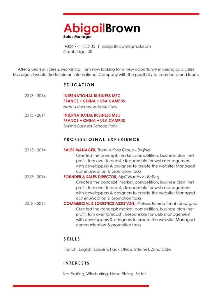 Great ResumeSmooth Resume · myCVfactory - great resume template