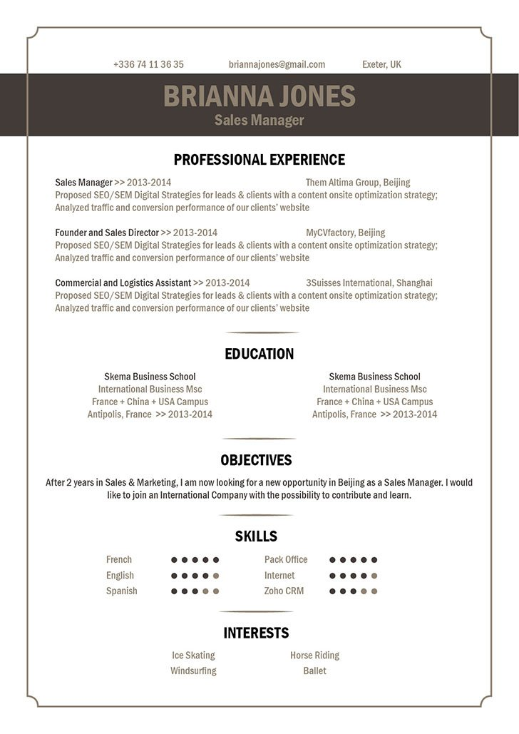 Best Resume Format Catchy Resume · myCVfactory - best resumes format