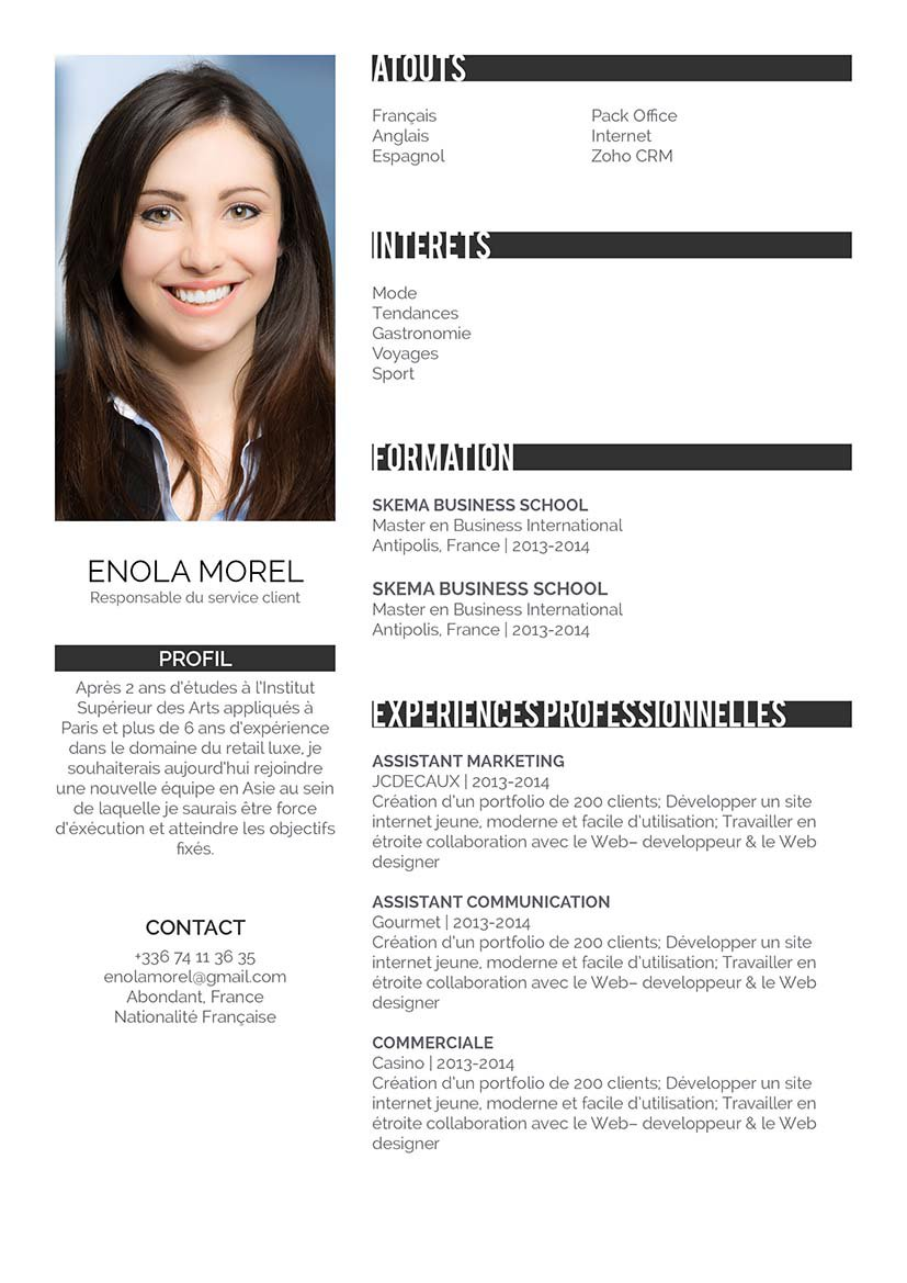 comment faire jolie cv