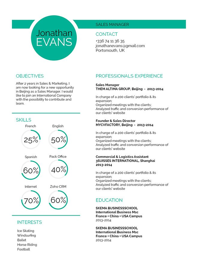 Resume Format Judicious Resume · myCVfactory